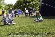 Bilder aus Shows und Auf- bzw. Abbau / Verschiedene Impressionen aus Shows mit Wasserspielen, Springbrunnen, Wasserorgeln, Wasserleinwänden, Jumping Jets und Showlasertechnik