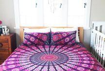 Large Hippie Tapestry Mandala Bohemian Elephant Bedspread Throw