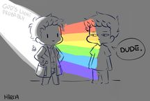Destiel / Pure, unfiltered Destiel trash. If you hadn't guessed, I ship it a little.