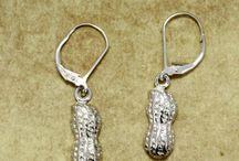 Peanut earrings for new mom