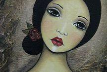 ζωγραφιά πρόσωπα γυναικεία