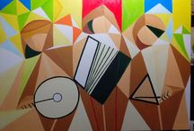 pintura em tela - cubismo