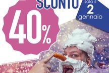 SCONTO 40%_2 gennaio 2016 / sconto 40% su tutto