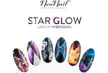 Star Glow NeoNail | Kolekcja gwieździstych lakierów od NeoNail / Poznaj 8 gwieździstych lakierów hybrydowych, które pozwolą Ci odmienić każdy manicure. Star Glow mają przezroczystą bazę i dużo mieniących się drobinek, sprawdź sama <3