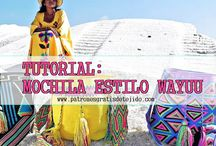 Wayuu mochila bag and tapestry crochet