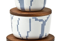 Pots with textile decoration