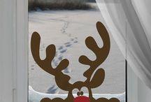 Natale decorazioni finestre