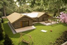 Tarasowy  / Rozłożysty, reprezentacyjny dom dla 4-5 osób, idealny na podmiejską działkę.   Powierzchnia użytkowa (m2) - 156 Zapotrzebowanie na energię (kWh / m2rok) - 35  Autor: arch. Anna Bać