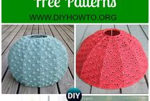 Knit lampshades