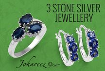 3 Stone Silver Jewellery / Stunning collection of 3 stone silver jewellery