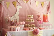 Pink and white party ideas
