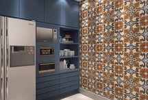 pastilhas cozinha azul