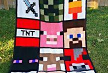 Minecraft blanket crochet