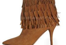 Aquazzura PF/FW14 Boots + Booties / Fringe + Studs, Dallas Chic Meets Rocker Cool