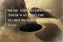 Quotes / Inspirational words regarding music