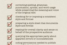 Writing - proofread and edit