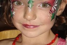Christmas Facepaint / Facepaint with Christmas theme