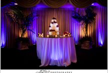 Under Table Lighting / This is how I add a new element of design for a wedding reception or company party.