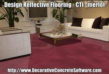 Reflective Concrete Flooring / Decorative Concrete Design Software has an extensive decorative concrete library.