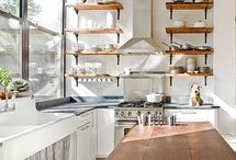 Kitchens / Inspiration for {what's in the kitchen} Wednesdays on http://eastsideofthebay.blogspot.com/ / by Emily Greene