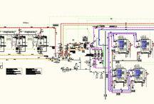 Proiectare instalatii / Asa arata un plan de instalatii termice.