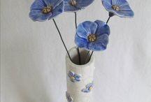 blomsterkeramikk