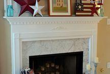 Summer Fireplace Decor