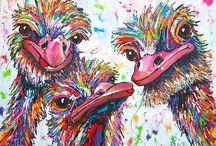 vrolijk schilderen