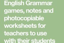 English Grammar games, notes and photocopiable worksheets for teachers to use with their students