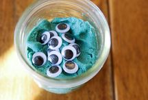 Gifting Ideas  / Play dough with sparkles and googly eyes