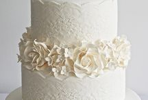 tiered cakes with flowers