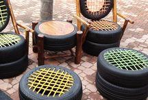 recyjkovaný nábytek