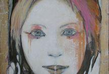 Peintures de Joan Dumouchel ( magnifique portrait )