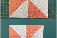 Disappearing pinwheel blocks