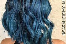 Blauw kort haar