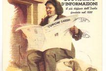 l'unione Sarda cartoline pubblicitarie
