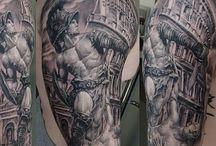 tetování řím rukáv