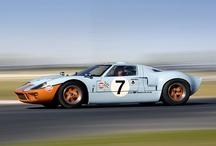 Gulf painted racing cars