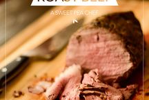 Roast beef and steaks