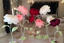Бумажный цветочный фон