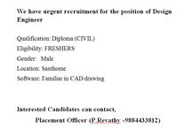 job offers for diploma civil students apply for this job