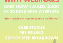 Webinars / Resources for learning about how to host & profit from webinars.