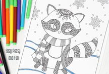 colouring in pattern pages