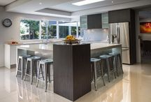 "Donvale Kitchen / Designer: Michael Simpson A large kitchen that manages to keep everything close and extremely practical. ""Clever use of space"" is our middle name!"