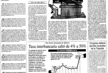 """Aquel viernes negro / Dossier hemerográfico del """"Viernes negro"""", devaluación de la moneda sufrida en 1983. Para consultar o adquirir el material hemerográfico: http://www.el-nacional.com/archivo/ / by Archivo El Nacional"""