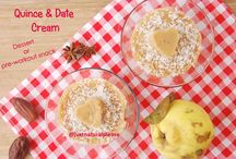 Quince & Date Cream (Dessert or Pre-workout snack) / A delicious, healthy and very easy to make recipe that you can prepare as a dessert or as a pre-workout snack...Vegan, gluten-free, sugar-free, oil-free.