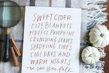 Autumn  Lovin' & Cider Sippin'