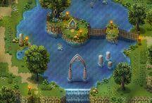 pixel arts image garden