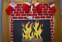 diy fireplace christmas