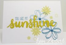 sunshine sayings stamp set